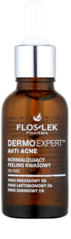 FlosLek Pharma DermoExpert Acid Peel normalisierende Nachtpflege für Haut mit kleinen Makeln