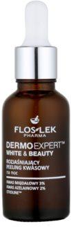 FlosLek Pharma DermoExpert Acid Peel aufhellende Nachtpflege gegen Pigmentflecken