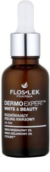FlosLek Pharma DermoExpert Acid Peel rozjasňujúca nočná starostlivosť proti pigmentovým škvrnám