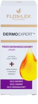 FlosLek Pharma DermoExpert Oils arcolaj ránctalanító hatással