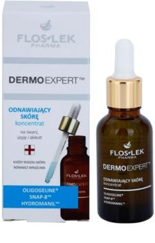 FlosLek Pharma DermoExpert Concentrate obnovujúce pleťové sérum na tvár, krk a dekolt