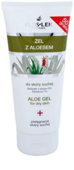 FlosLek Pharma Dry Skin Aloe Vera regeneračný gél na tvár a dekolt