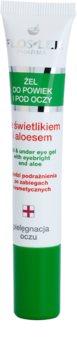 FlosLek Pharma Eye Care gel para o contorno dos olhos com luteína e alóe vera