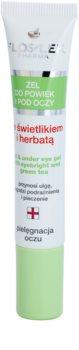 FlosLek Pharma Eye Care gel za predel okoli oči s smetilko in zelenim čajem