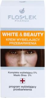 FlosLek Pharma White & Beauty bleichende Creme für die lokale Behandlung