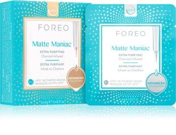 FOREO UFO™ Matte Maniac čistiaca maska s aktívnym uhlím pre matný vzhľad