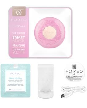 FOREO UFO™ Mini звуков уред за ускоряване ефекта на маските за лице малка опаковка