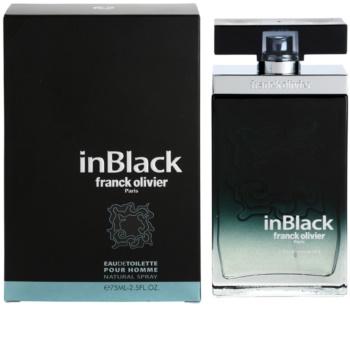 Franck Olivier In Black Pour Homme eau de toilette pour homme 75 ml