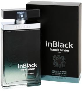 Franck Olivier In Black Pour Homme Eau de Toilette para homens 75 ml