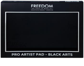 Freedom Pro Artist Pad Black Arts paleta senčil za oči z ogledalom