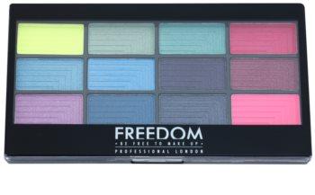 Freedom Pro 12 Chasing Rainbows paleta očních stínů s aplikátorem