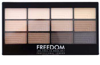 Freedom Pro 12 Audacious Mattes paletka očných tieňov s aplikátorom
