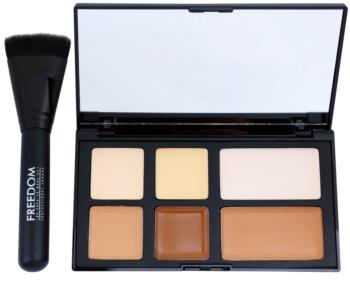 Freedom Pro Cream Strobe paleta pentru contur facial cu pensula