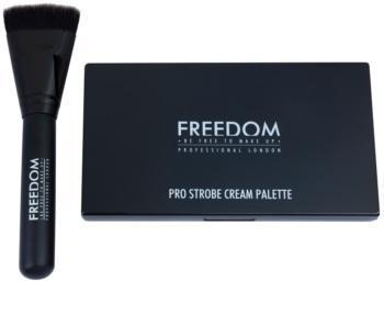 Freedom Pro Cream Strobe paleta na kontúry tváre so štetčekom