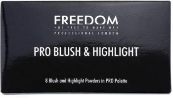 Freedom Pro Blush Peach and Baked paleta na kontúry tváre