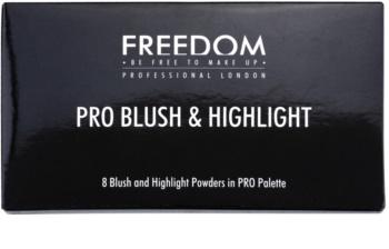 Freedom Pro Blush Pink and Baked paleta pentru contur facial