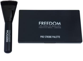 Freedom Pro Powder Strobe paleta na kontury obličeje se štětečkem