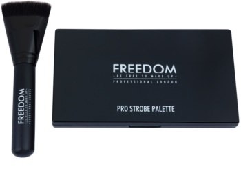 Freedom Pro Powder Strobe paleta na kontúry tváre so štetčekom