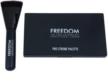 Freedom Pro Powder Strobe paleta za konture obraza s čopičem