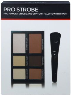Freedom Pro Powder Strobe paleta pentru contur facial cu pensula