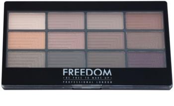 Freedom Pro 12 Secret Rose paleta senčil za oči z aplikatorjem
