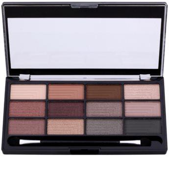 Freedom Pro 12 Stunning Smokes Eyeshadow Palette with Applicator