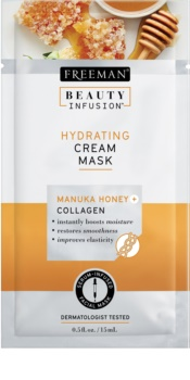 Freeman Beauty Infusion Manuka Honey + Collagen vlažilna kremasta maska za normalno do suho kožo