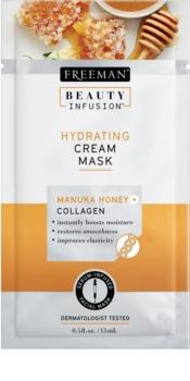 Freeman Beauty Infusion Manuka Honey + Collagen зволожуюча кремова маска для нормальної та сухої шкіри