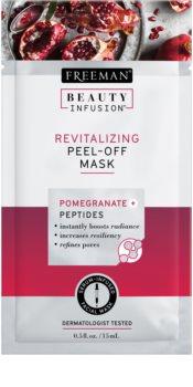 Freeman Beauty Infusion Pomegranate + Peptides maschera peel-off rivitalizzante viso