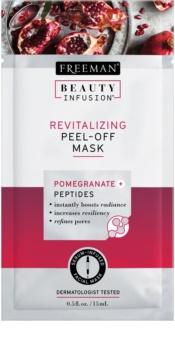 Freeman Beauty Infusion Pomegranate + Peptides revitalizační slupovací pleťová maska