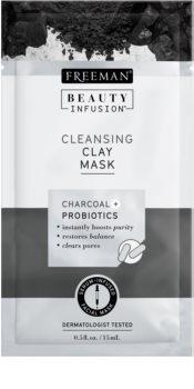 Freeman Beauty Infusion Charcoal + Probiotics čisticí jílová pleťová maska