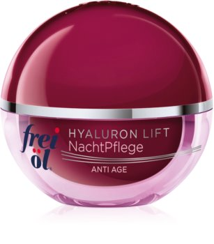 frei öl Anti Age Hyaluron Lift nočný regeneračný spevňujúci krém proti vráskam