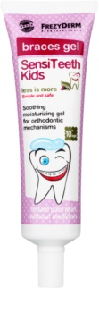 Frezyderm SensiTeeth Kids gel calmante para gengivas de indivíduos com aparelho fixo