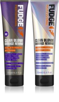 Fudge Clean Blonde Damage Rewind zestaw kosmetyków (do włosów blond)