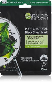 Garnier Skin Naturals Pure Charcoal črna tekstilna maska z izvlečkom morskih alg