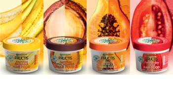 Garnier Fructis Banana Hair Food tápláló hajpakolás száraz hajra