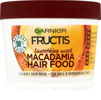 Garnier Fructis Macadamia Hair Food vyhladzujúca maska pre nepoddajné vlasy