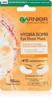 Garnier Skin Naturals Moisture+ Fresh Look energizáló textilmaszk szemkörnyékre