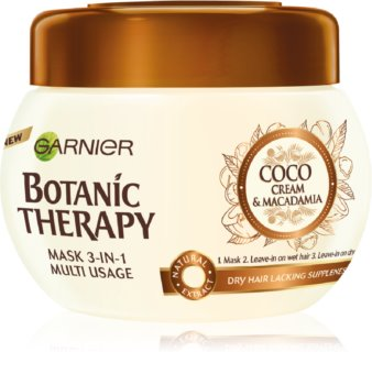 Garnier Botanic Therapy Coco Milk & Macadamia mască nutritivă pentru păr foarte uscat