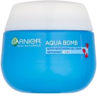 Garnier Skin Naturals Aqua Bomb feuchtigkeitsspendende Antioxidant-Gel-Creme für den Tag 3 in 1