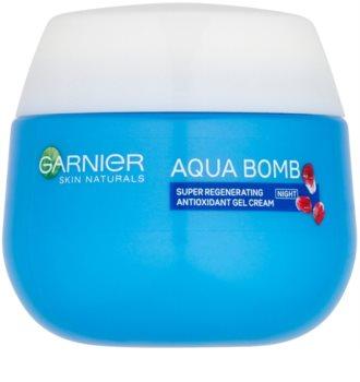 Garnier Skin Naturals Aqua Bomb нічний відновлюючий  гелевий крем-антиоксидант