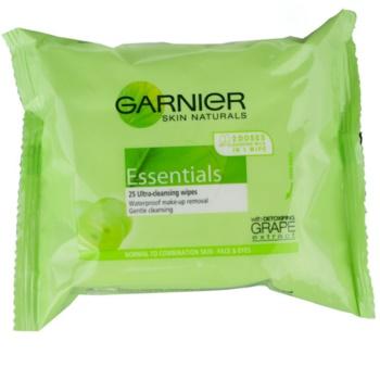 Garnier Essentials odličovacie obrúsky pre normálnu až zmiešanú pleť