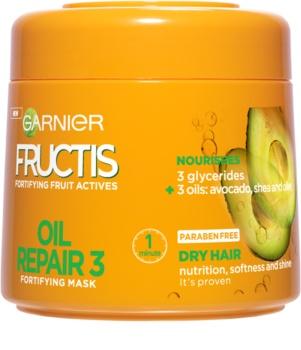 Garnier Fructis Oil Repair 3 зміцнююча маска для сухого або пошкодженого волосся