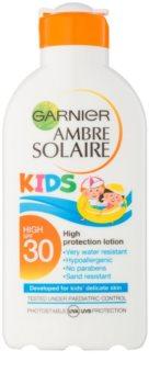 Garnier Ambre Solaire Kids lapte protector pentru copii SPF 30