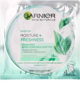 Garnier Skin Naturals Moisture+Freshness mascarilla de tela hidratación profunda efecto limpiador para pieles normales y mixtas