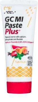 GC MI Paste Plus Tutti-Frutti schützende remineralisierende Zahncreme für empfindliche Zähne mit Fluor