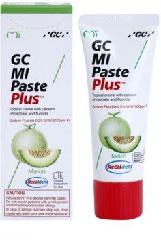 GC MI Paste Plus Melon remineralizacijska zaščitna krema za občutljive zobe s fluoridom