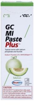GC MI Paste Plus Melon crème protectrice reminéralisante pour dents sensibles au fluorure