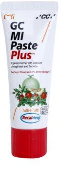 GC MI Paste Plus Tutti-Frutti remineralizačný ochranný krém pre citlivé zuby s fluoridom