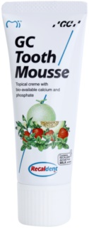 GC Tooth Mousse Melon crema protectora remineralizante para dientes sensibles  sin flúor